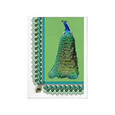 Pop-Peacock Queen 5'x7'Area Rug