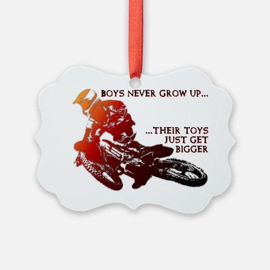 Bigger Toys Dirt Bike Motocross F Ornament