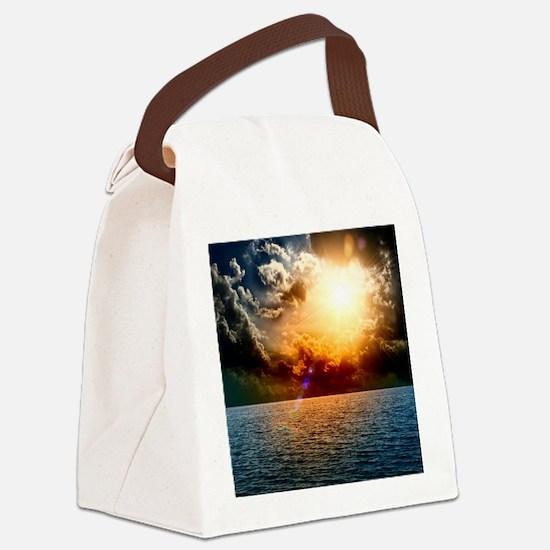 Ocean Sunset Canvas Lunch Bag