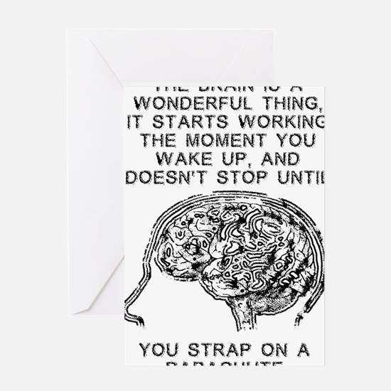 Skydiving Brain Stops Working Funny  Greeting Card