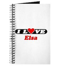 I Love Elsa Journal