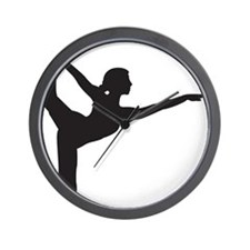 Bikram Yoga Bow Pose Wall Clock