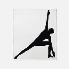 Bikram Yoga Triangle Pose Throw Blanket