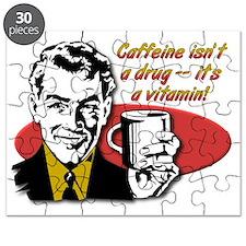 Caffeine Vitamin Funny Coffee T-Shirt Puzzle