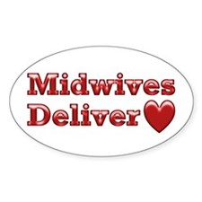 Delivering Love With This Oval Decal