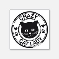 "Crazy Cat Lady Square Sticker 3"" x 3"""