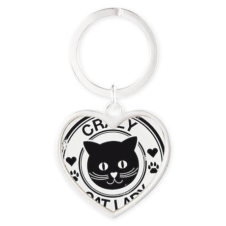 Crazy Cat Lady Heart Keychain
