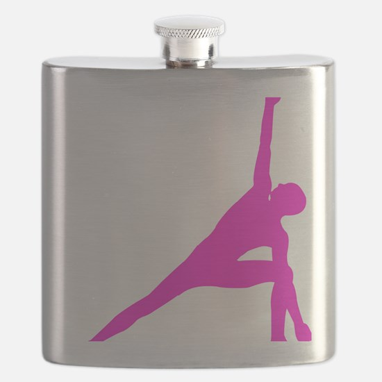 Bikram Yoga Triangle Pose in Pink Flask