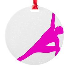 Bikram Yoga Triangle Pose in Pink Ornament
