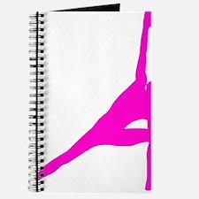 Bikram Yoga Triangle Pose in Pink Journal