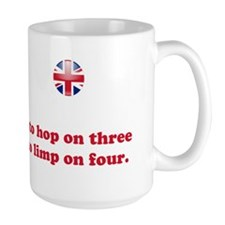 Tripawds UK Union Jack Pug Mug