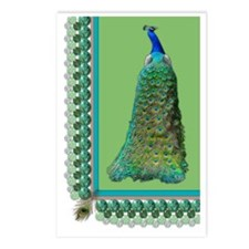 Pop-Peacock Large Postcards (Package of 8)