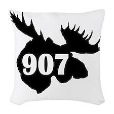 907 Moose Head Woven Throw Pillow