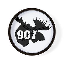 907 Moose Head Wall Clock