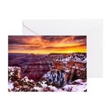 Grand Canyon Landscape at Sunrise Greeting Card