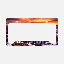 Grand Canyon Landscape at Sun License Plate Holder