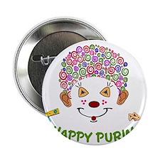"""Purim Clown 2.25"""" Button"""
