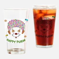 Purim Clown Drinking Glass