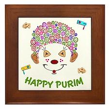 Purim Clown Framed Tile