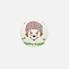 Purim Clown Mini Button