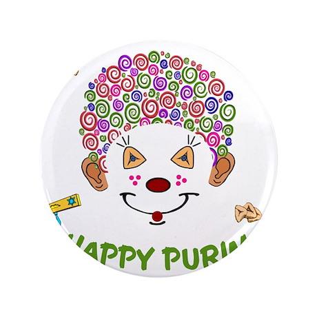 """Purim Clown 3.5"""" Button"""