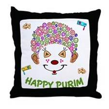Purim Clown Throw Pillow