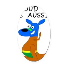 proud to be aussie Oval Car Magnet