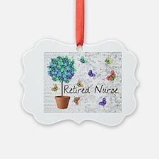 Retired Nurse Pillow 7 butterflie Ornament