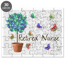 Retired Nurse Pillow 7 butterflies Puzzle