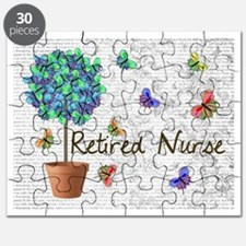Retired Nurse Pillow 7 butterflies Puzzle