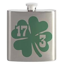 Shamrock St. Patricks day Flask