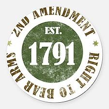 2nd Amendment Est. 1791 Round Car Magnet