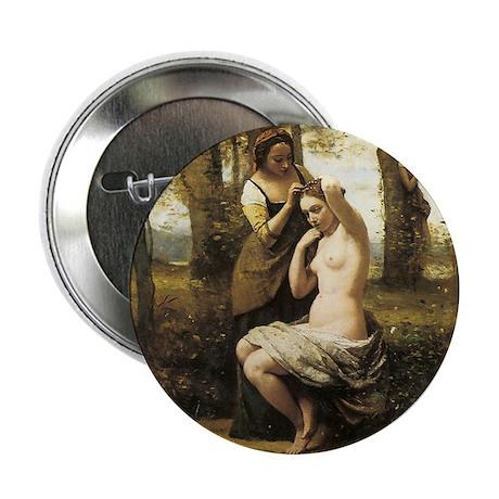 "Jean-Baptiste-Camille Corot The Toile 2.25"" Button"