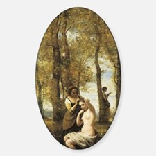Jean-Baptiste-Camille Corot The Toi Sticker (Oval)