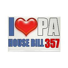 I Heart PA House Bill 357 Rectangle Magnet