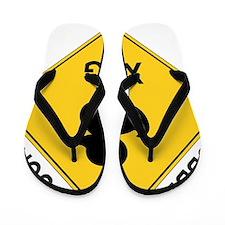 Rubber Ducky Xing Flip Flops
