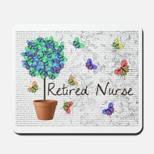 Retired Nurse Pillow 7 butterflies Mousepad