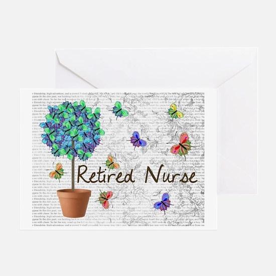 Retired Nurse Pillow 7 butterflies Greeting Card