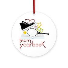 Team Yearbook Round Ornament