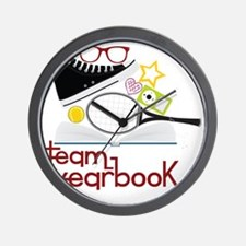 Team Yearbook Wall Clock