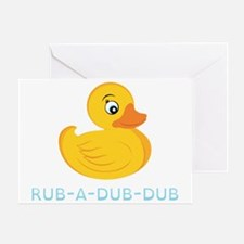 Rub A Dub Dub Greeting Card