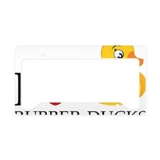Love Rubber Ducks License Plate Holder
