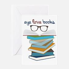 Eye Love Books Greeting Card