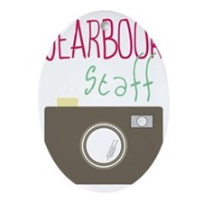 Yearbook Staff Oval Ornament