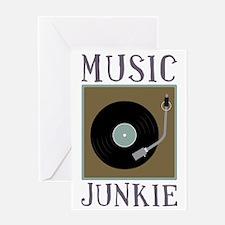 Music Junkie Greeting Card