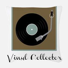Vinyl Collector Woven Throw Pillow