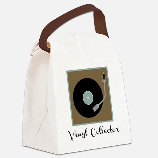 Vinyl Collector Canvas Lunch Bag
