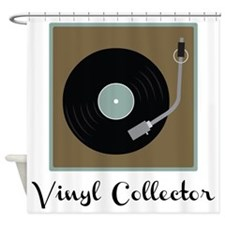 Vinyl Collector Shower Curtain