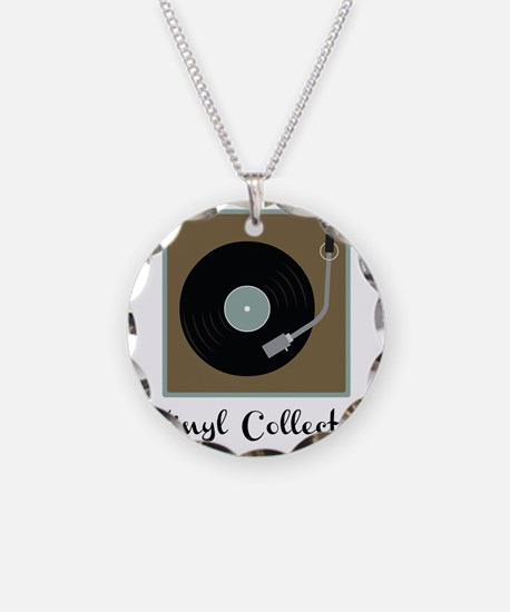 Vinyl Collector Necklace Circle Charm