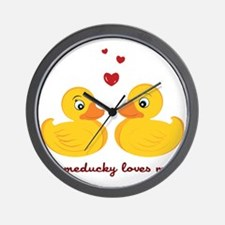 Someducky Loves Me Wall Clock